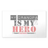 Lung Cancer Hero Grandpa Rectangle Sticker 50 pk)