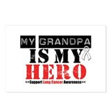 Lung Cancer Hero Grandpa Postcards (Package of 8)