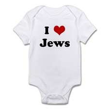 I Love Jews Infant Bodysuit