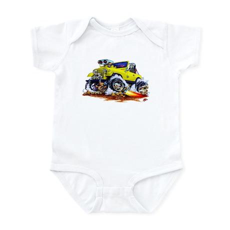 Jeep Yellow Infant Bodysuit