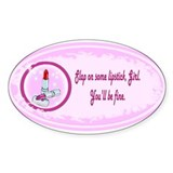 Lipstick helps Oval Sticker (10 pk)