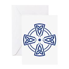 Triquetra Cross, transparent Greeting Card