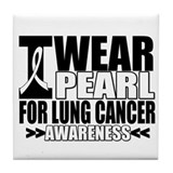Lung Cancer Awareness Tile Coaster