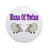 Nana To Twins Ornament (Round)
