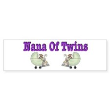 Nana To Twins Bumper Bumper Sticker
