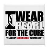 Lung Cancer ForTheCure Tile Coaster