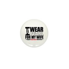 Lung Cancer Wife Mini Button (100 pack)