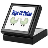 Papa Of Twins Keepsake Box