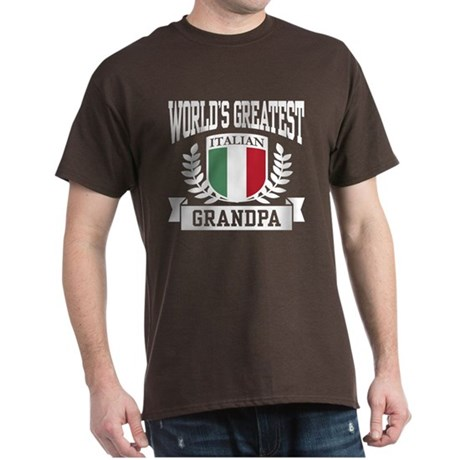 World's Greatest Italian Grandpa Dark T-Shirt