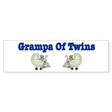 Grampa To Twins Bumper Bumper Sticker