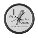 Gray Ribbon Patients Large Wall Clock