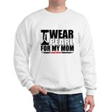 Lung Cancer Ribbon Mom Sweatshirt