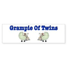 Grampie Of Twins Bumper Bumper Sticker