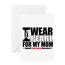 Lung Cancer Ribbon Mom Greeting Card
