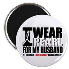 "Lung Cancer Husband 2.25"" Magnet (100 pack)"