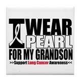 Lung Cancer Grandson Tile Coaster