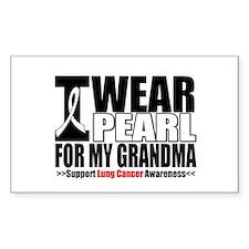 Lung Cancer Grandma Rectangle Sticker 50 pk)