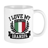 I Love My Italian Grandpa Small Mug