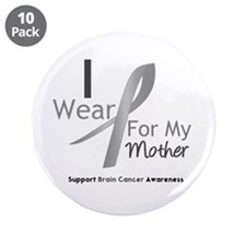 "Gray Ribbon Mother 3.5"" Button (10 pack)"