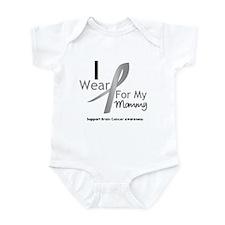 Gray Ribbon Mommy Infant Bodysuit