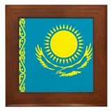 Kazakhstan Framed Tile