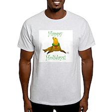 Christmas Sea Lion Ash Grey T-Shirt