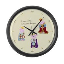 Three Wise Pigs English Large Wall Clock