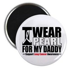 "Lung Cancer Daddy 2.25"" Magnet (10 pack)"