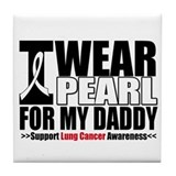 Lung Cancer Daddy Tile Coaster