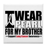 Lung Cancer Brother Tile Coaster