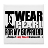 Lung Cancer Boyfriend Tile Coaster