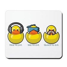 No Evil Ducks Mousepad