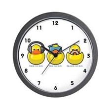 No Evil Ducks Wall Clock