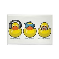 No Evil Ducks Rectangle Magnet