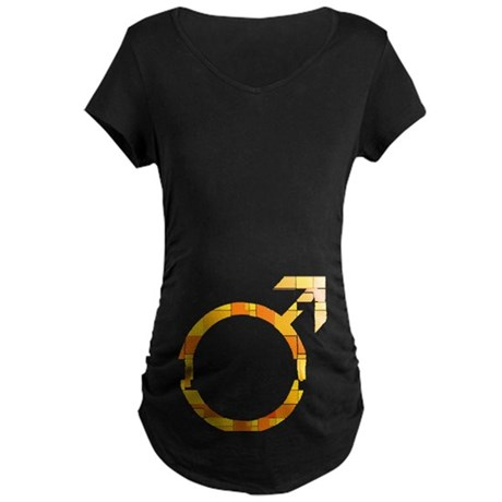 Orange Male Symbol Maternity Dark T-Shirt