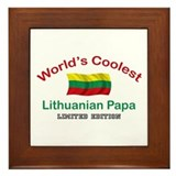 Coolest Lithuanian Papa Framed Tile