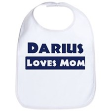 Darius Loves Mom Bib