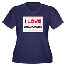 I LOVE URBAN PLANNERS Women's Plus Size V-Neck Dar