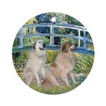 Bridge / Great Pyrenees (2) Ornament (Round)