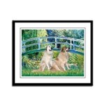 Bridge / Great Pyrenees (2) Framed Panel Print
