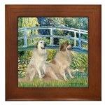 Bridge / Great Pyrenees (2) Framed Tile