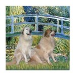 Bridge / Great Pyrenees (2) Tile Coaster