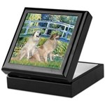 Bridge / Great Pyrenees (2) Keepsake Box