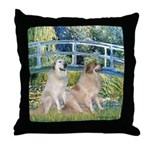 Bridge / Great Pyrenees (2) Throw Pillow