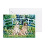 Bridge / Great Pyrenees (2) Greeting Cards (Pk of