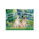 Bridge / Great Pyrenees (2) Mini Poster Print
