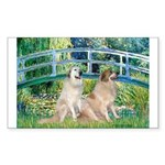Bridge / Great Pyrenees (2) Sticker (Rectangle)