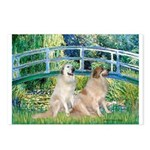 Bridge / Great Pyrenees (2) Postcards (Package of