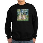 Bridge / Great Pyrenees (2) Sweatshirt (dark)