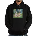 Bridge / Great Pyrenees (2) Hoodie (dark)
